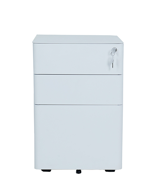 3 Drawer steel Mobile File Cabinet Fully Assembled Except Casters