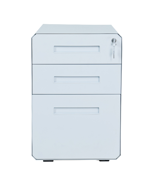 Office use office equipment filing cabinet mobile pedestal metal cabinet with castors