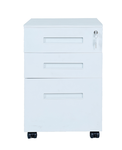 Durable material steel metal cabinet filing mobile pedestal metal filing cabinet with wheel