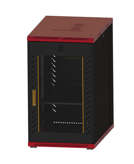 Network cabinet-11      1100,600,900 Common Lock Glass-Red