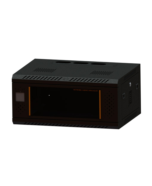 Network cabinet-3   340,600,450Induction lock glass-black