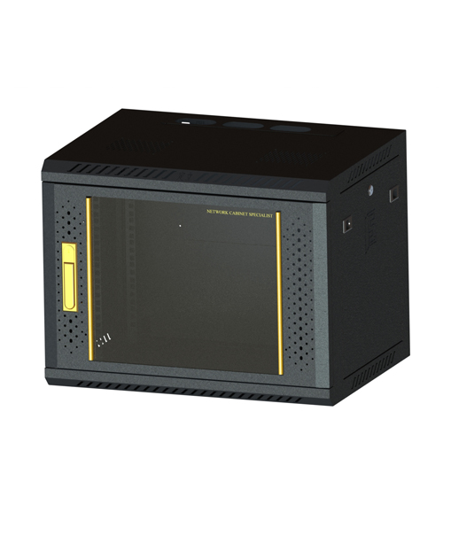 Network cabinet-5   460,600,450 Common Lock Glass-Black