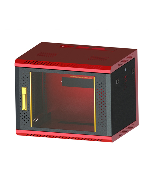 Network cabinet-6      460,600,450 Common Lock Glass-Red