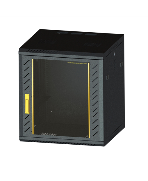 Network cabinet-7  660,600,550 Common Lock Glass-Black