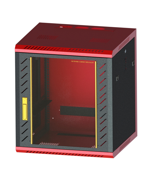 Network cabinet-8  660,600,550 Common Lock Glass-Red