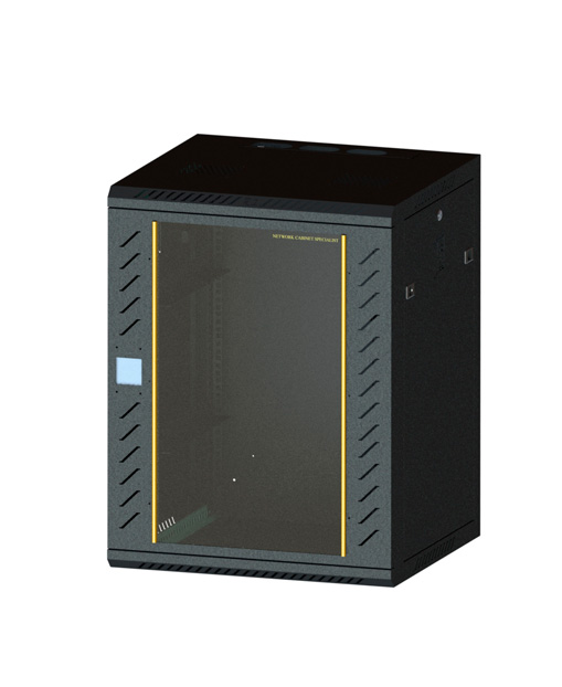 Network cabinet-9      780,600,500Induction lock glass-black