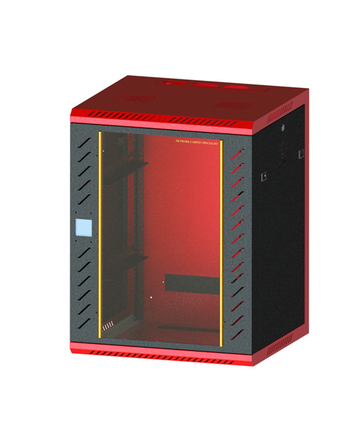 Network cabinet-9       780,600,500Induction lock glass-red