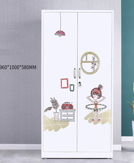 Multi-function move the door Cabinet Children's Wardrobe Household
