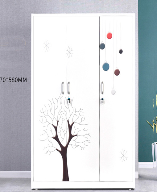 Economic Move the door Printing Child's Storage Wardrobe Household